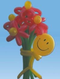 Поздравление шарами, праздничные шары, буквы из шаров 84